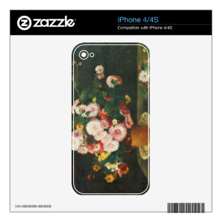 Still life with asters skins for iPhone 4S