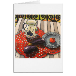Still life with aubergine Art Card