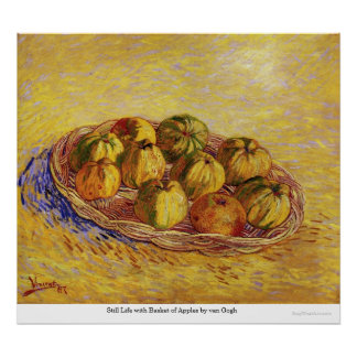 Still Life with Basket of Apples by van Gogh Posters