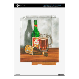 Still Life with Beer by Jennifer Goldberger iPad 3 Decal