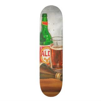 Still Life with Beer by Jennifer Goldberger Skateboard Deck