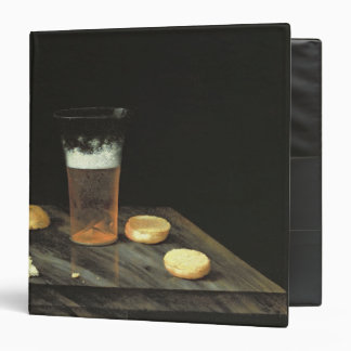 Still life with Beer Glass 3 Ring Binder