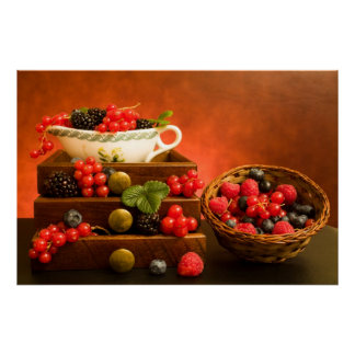 Still Life With Berries Posters