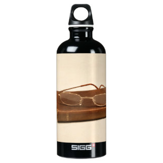 Still life with bible and reading glasses SIGG traveler 0.6L water bottle