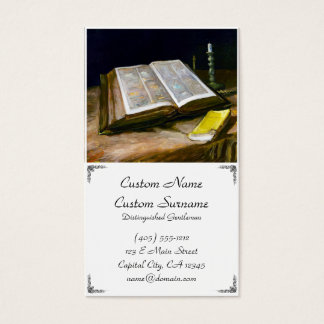 Still Life with Bible by Vincent Van Gogh Business Business Card
