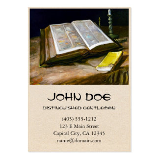 Still Life with Bible by Vincent Van Gogh Large Business Cards (Pack Of 100)