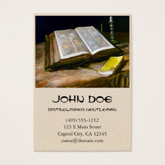 Still Life with Bible by Vincent Van Gogh Business Card