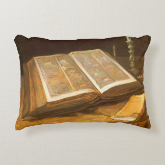 Still Life with Bible by Vincent van Gogh Decorative Pillow