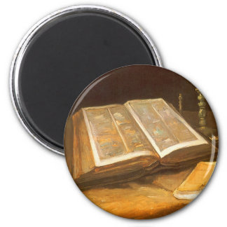 Still Life with Bible by Vincent van Gogh Magnet