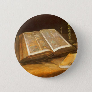 Still Life with Bible by Vincent van Gogh Pinback Button