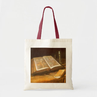 Still Life with Bible by Vincent van Gogh Tote Bag