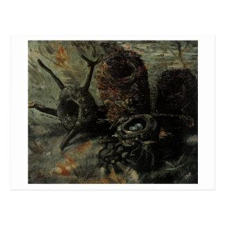 Still Life with Birds' Nests Van Gogh Fine Art Postcard