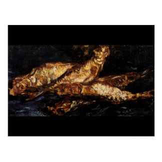 Still Life with Bloaters Van Gogh Fine Art Postcard