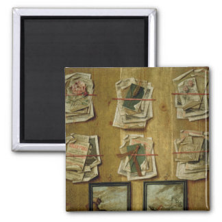 Still Life with Book Sheets and Pictures, 1783 Magnet