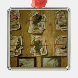 Still Life with Book Sheets and Pictures, 1783 Metal Ornament