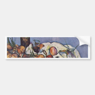 Still Life With Bottle And Onions By Paul Cézanne Car Bumper Sticker