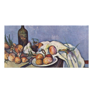 Still Life With Bottle And Onions By Paul Cézanne Photo Cards