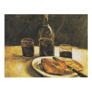 Still life with bottle, two glasses - Van Gogh Postcard