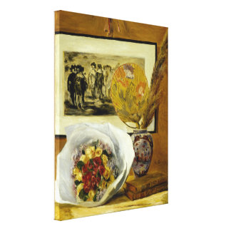 Still Life with Bouquet by Pierre-Auguste Renoir Gallery Wrapped Canvas