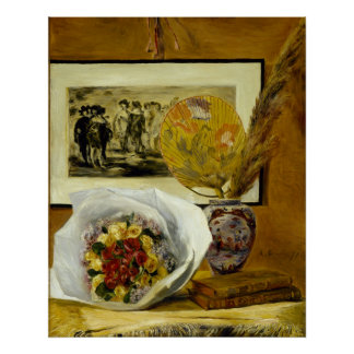 Still Life with Bouquet by Pierre-Auguste Renoir Poster