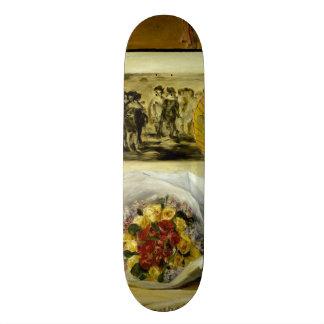 Still Life with Bouquet by Pierre-Auguste Renoir Skate Board