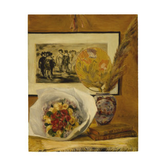 Still Life with Bouquet by Pierre-Auguste Renoir Wood Canvases
