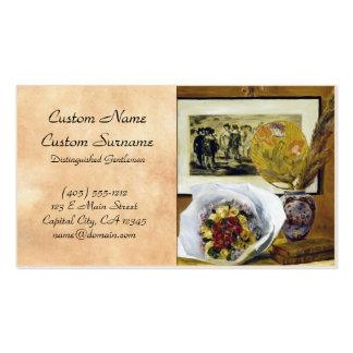 Still Life with Bouquet Pierre Auguste Renoir Business Card