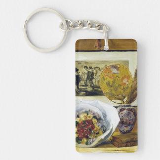 Still Life with Bouquet Pierre Auguste Renoir Keychain