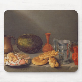 Still life with bread, 1648 mouse pad