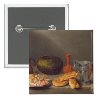 Still life with bread, 1648 pinback button