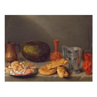 Still life with bread, 1648 postcard