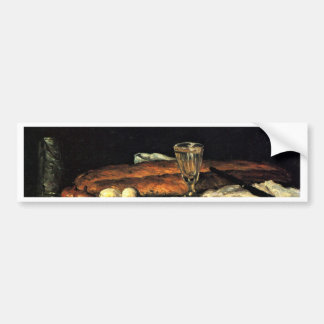 Still Life With Bread And Eggs By Paul Cézanne Car Bumper Sticker