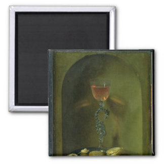Still Life with Bread and Wine Glass Magnet