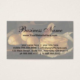 Still Life with Bread Tart and Ham, Giuseppe Recco Business Card