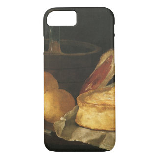 Still Life with Bread Tart and Ham, Giuseppe Recco iPhone 7 Case