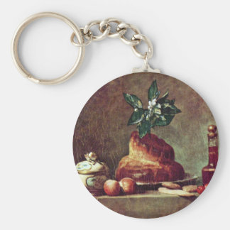 Still Life With Brioche By Chardin Jean-Baptiste S Key Chains