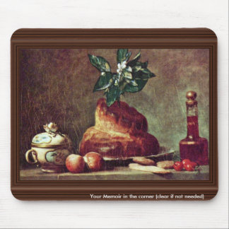 Still Life With Brioche By Chardin Jean-Baptiste S Mouse Pad