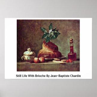 Still Life With Brioche By Jean-Baptiste Chardin Print