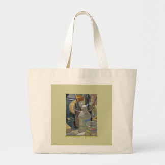 Still Life with Brushes Large Tote Bag