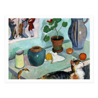 Still Life with Cat by August Macke Postcard