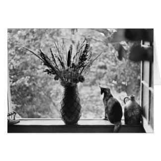 Still Life with Cat Greeting Card
