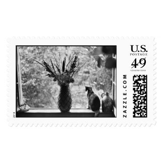 Still Life with Cat Postage Stamp