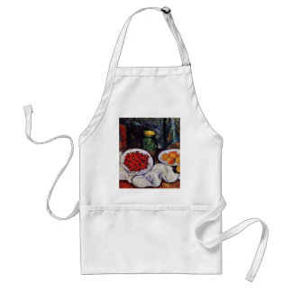 Still Life With Cherries And Peaches By Paul Cézan Adult Apron