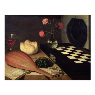 Still Life with Chess-board, 1630 Postcard