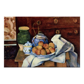Still Life with Chest of Drawers by Paul Cezanne Posters