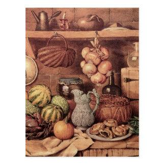 Still life with Christmas Food Postcard