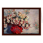 Still Life With Chrysanthemums By Claude Monet Greeting Card