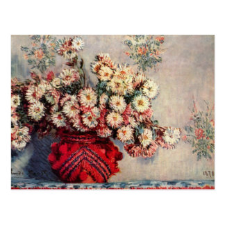 Still Life with Chrysanthemums by Claude Monet Postcard