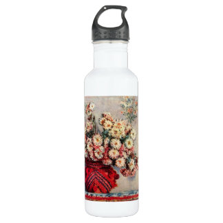 Still Life with Chrysanthemums by Claude Monet Stainless Steel Water Bottle