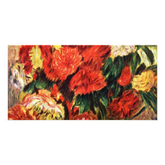 Still Life With Chrysanthemums By Pierre-Auguste R Photo Cards